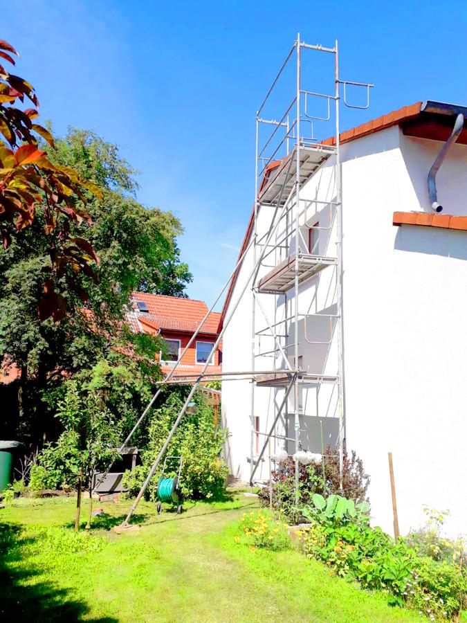 Gerüstbau Aufstiegsfeld Baugerüst vom Gerüstbauer in Hannover Lehrte