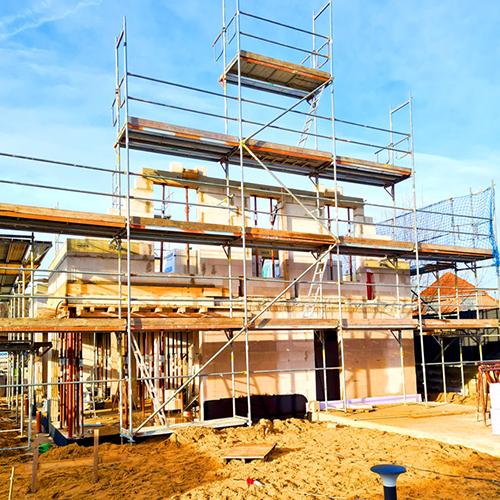 Gerüst für Neubau vom Gerüstbauer in Hannover Lehrte